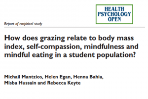 Grazing self-compassion mindfulness mindful eating