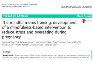 mindfulness-based intervention to reduce stress and overeating during pregnancy